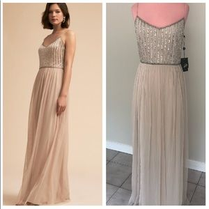 Anthropologie BHLDN Adrianna Papell Laurent Dress